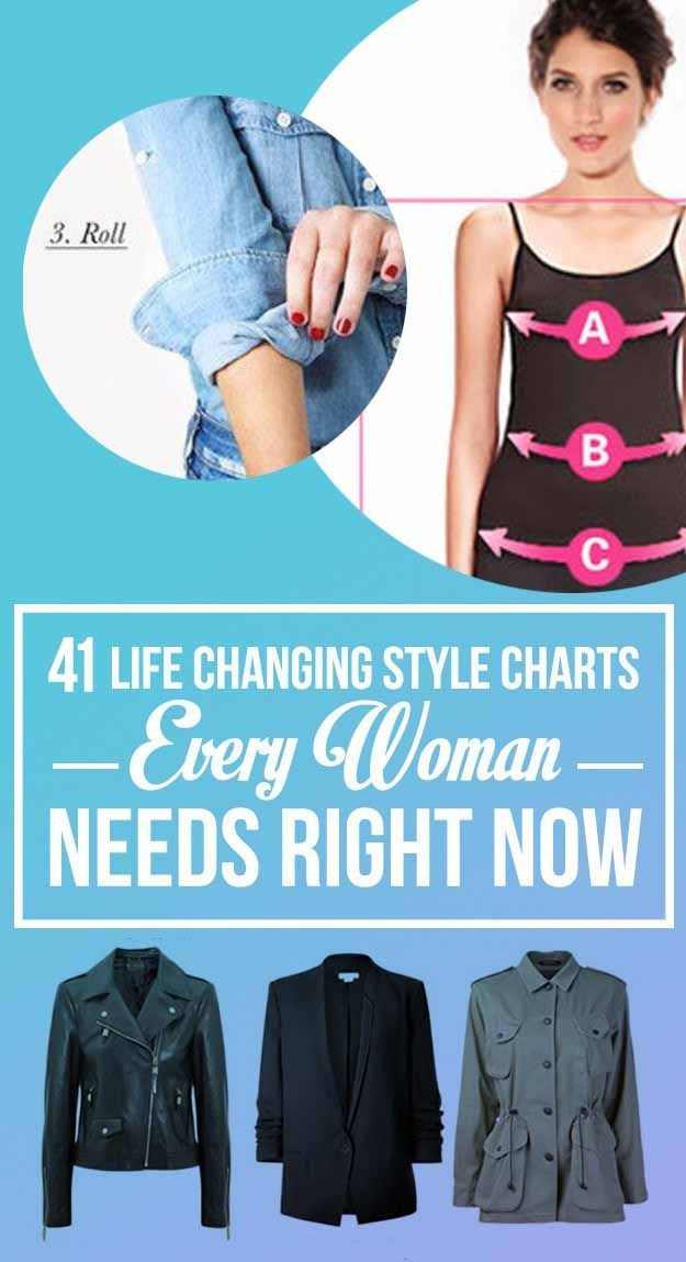 c4af3b97a3 41 Insanely Helpful Style Charts Every Woman Needs Right Now from ...